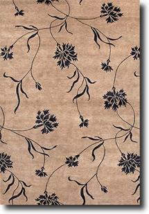 J2-J256-Tan Hand-Knotted Area Rug