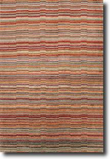 J2-J261-Red Orange Red Orange Hand-Knotted Area Rug