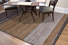 J2-J255-Gray Brown Room Lifestyle Hand-Knotted Area Rug detail