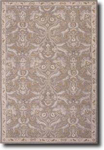 Poeme-PM121-Neutral Gray Silver Gray Hand-Tufted Area Rug
