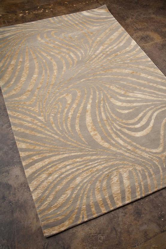 Earth-ER02-Fog Hand-Knotted Area Rug collection texture detail
