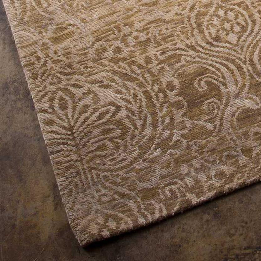 Earth-ER09-Dark Sand Hand-Knotted Area Rug collection texture detail