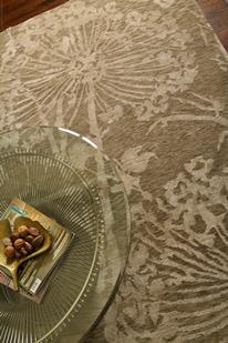 Earth-ER12-Light Gold Light Gold Room Lifestyle Hand-Knotted Area Rug detail